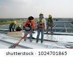construction worker wearing... | Shutterstock . vector #1024701865