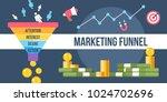 the digital marketing funnel... | Shutterstock .eps vector #1024702696