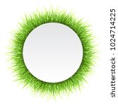 Circle Label With Green Grass....
