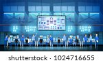 it engineers in big data center ... | Shutterstock .eps vector #1024716655