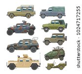 Military Vehicle Vector Army...