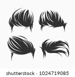 Set Of Men Hairstyles And...