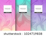 chocolate bar packaging set.... | Shutterstock .eps vector #1024719838