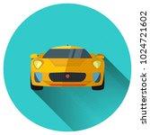 sportcar icon in trendy flat...