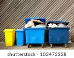 overfilled trash of large... | Shutterstock . vector #102472328