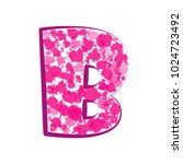 english pink letter b on a... | Shutterstock .eps vector #1024723492