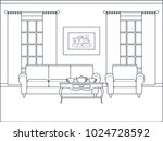 room interior. home flat design ... | Shutterstock .eps vector #1024728592
