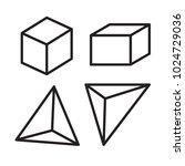 3d cube vector  3d prism vector ... | Shutterstock .eps vector #1024729036