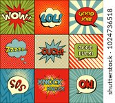 set of comic speech bubbles.... | Shutterstock .eps vector #1024736518