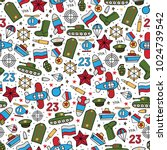 seamless vector pattern of... | Shutterstock .eps vector #1024739542