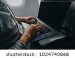 businessman working on laptop... | Shutterstock . vector #1024740868