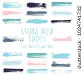 grunge paint brush stroke... | Shutterstock .eps vector #1024741732