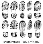 footprints human shoes... | Shutterstock .eps vector #1024744582