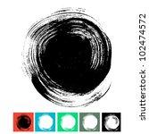 circle brush stroke isolated on ... | Shutterstock .eps vector #102474572