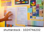 web designer drawing develop...   Shutterstock . vector #1024746232