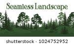 seamless horizontal summer... | Shutterstock .eps vector #1024752952