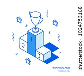 isometric winning and success... | Shutterstock .eps vector #1024753168