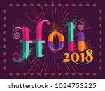 holi festival of colors... | Shutterstock .eps vector #1024753225