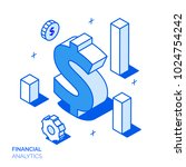 isometric financial analysis... | Shutterstock .eps vector #1024754242