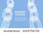 block chain. crypto currency.... | Shutterstock .eps vector #1024756732