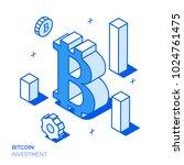 isometric bitcoin investment... | Shutterstock .eps vector #1024761475