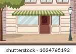 entrance of a shop in the city. ...   Shutterstock .eps vector #1024765192