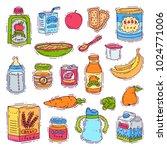 baby food vector child healthy... | Shutterstock .eps vector #1024771006