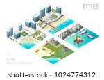 set of isolated isometric... | Shutterstock .eps vector #1024774312