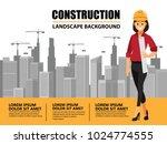 business engineer and worker ... | Shutterstock .eps vector #1024774555