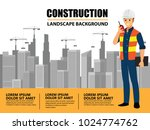 business engineer and worker ... | Shutterstock .eps vector #1024774762