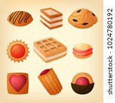 a set of confectionery products ...   Shutterstock .eps vector #1024780192