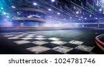 cart race track finish line in...   Shutterstock . vector #1024781746