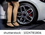 girl having long legs standing... | Shutterstock . vector #1024781806