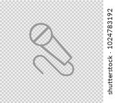 microphone vector icon eps 10.... | Shutterstock .eps vector #1024783192