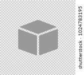 cube vector icon eps 10. simple ... | Shutterstock .eps vector #1024783195