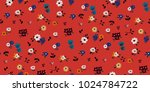 seamless floral pattern in... | Shutterstock .eps vector #1024784722