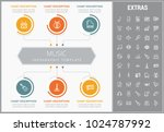 music infographic template ... | Shutterstock .eps vector #1024787992