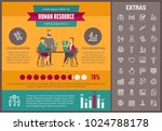 human resource infographic... | Shutterstock .eps vector #1024788178