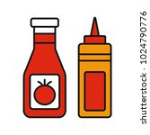 ketchup and mustard color icon. ... | Shutterstock .eps vector #1024790776