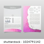 brochure template layout  cover ... | Shutterstock .eps vector #1024791142
