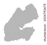pixel map of djibouti. vector... | Shutterstock .eps vector #1024792675