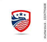 eagle shield vector material ... | Shutterstock .eps vector #1024793608