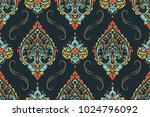 seamless pattern based on... | Shutterstock .eps vector #1024796092