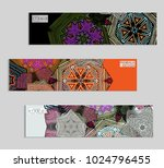 ethnic banners template with...   Shutterstock .eps vector #1024796455
