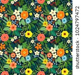amazing seamless floral pattern ... | Shutterstock .eps vector #1024797472