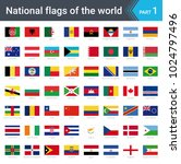 flags of the world. vector... | Shutterstock .eps vector #1024797496