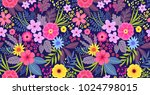amazing seamless floral pattern ... | Shutterstock .eps vector #1024798015