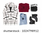 checkered or striped coat ... | Shutterstock . vector #1024798912