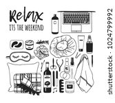 hand drawn illustration relax... | Shutterstock .eps vector #1024799992