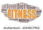 fitness word cloud. vector...   Shutterstock .eps vector #1024817902